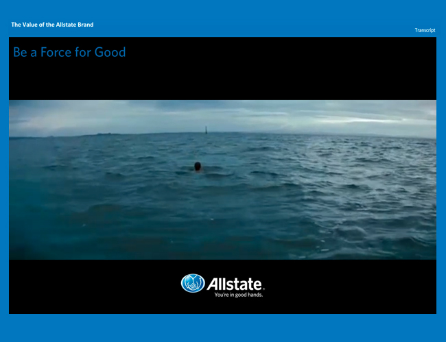 Allstate Insurance company training course sample screenshot