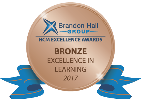 Brandon Hall Bronze Award 2017